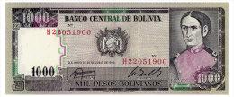 BOLIVIA 1000 PESOS BOLIVIANOS 1982 Pick 167 Unc - Bolivia