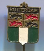 ROTTERDAM - Holland Netherlands, Blason, Coat Of Arms, Vintage Pin Badge - Cities