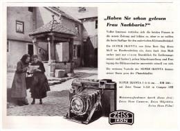 Original Werbung - 1941 - Zeiss Ikon , Photoapparat , Photographie , Kamera , Camera !!! - Fotoapparate