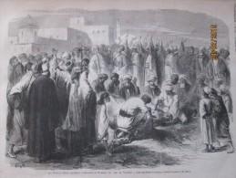 1873  Les Fetes Du Caire   Mariage  Des Fils  Du Vice Roi  Les Sacrifices D Animaux  Devant Le Palais  D El Mieh - Vieux Papiers