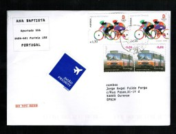 PORTUGAL 2008 USED COVER CYCLING  OLYMPIC GAMES BEIJING PEKIN BUS TRANSPORTING - Sommer 2008: Peking