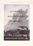 Original Werbung - 1941 - Mercedes-Benz , Ausdruck Kraftvoller Schönheit , Mercedes , A4 Seite !!! - KFZ
