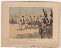 """Menu Aquarellé """" Napoléon L'Epopée"""" - 1804""""  P. Begnini (2 Scans) - Menu"""