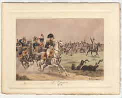 """Menu Aquarellé """" Napoléon L´Epopée"""" - 1813""""  P. Begnini (2 Scans) - Menu"""