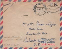 Lettre Militaire Algérie Machine Klussendorf Poste Aux Armées A.F.N. 23.3.57 (avec Pont) 6 Lignes Ondulées à Droite - Postmark Collection (Covers)