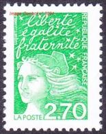France Marianne Du 14 Juillet N° 3091 ** LUQUET - Le Vert à 2.70 Frs - 1997-04 Marianne Du 14 Juillet