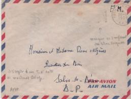 """Lettre Militaire Algérie Flamme =o Poste Aux Armées A.F.N. 26 -6 1958 """" Sans Les Lignes Ondulées à Gauche"""" - Storia Postale"""