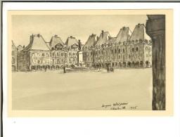 Charleville. La Place Ducale, D´après Un Dessin De J.Weismann Sur Le Recto Ardennes Non Indiquées - Charleville