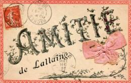 A VOIR PEU COMMUNE ! LALLAING 1908 AMITIE THEMES 59 NORD - Sin Clasificación