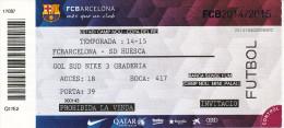 España--Futbol--Barcelona-Huesca---Copa Del Rey-- 2014--2015-- - Tickets - Entradas