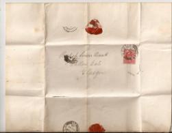 """LETTERA COMMERCIALE SPEDITA DA DUBLINO  PER GLASGOW INTESTATA """"BANK OF IRELAND-DUBLIN"""" - Lettres & Documents"""