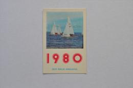 Calendar 1980 Estonia Sea Ships Yacht 29