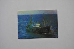 Calendar 1986 USSR Sea Ship Fishing Boat PromorRybProm 64