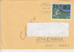 ITALIA  2007 -lettera  - Sassone  2968 (varietà Colori Spostati) -  Europa - Infanzia - Abarten Und Kuriositäten
