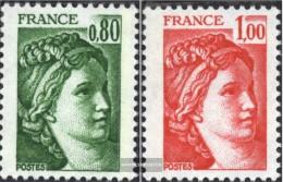 Frankreich 2057x Un-2058x Un (completa.Unusg.) MNH 1977 Sabini - Frankrijk