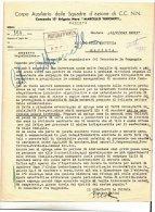 DE526-1945 MANTOVA Corpo Ausiliario SQUADREA Azione CC.NN. COMANDO 13°BRIGATA MARIO TURCHETTI Su Uso Improprio ZUCCHERO - Documenti Storici