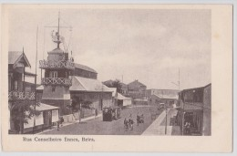 BEIRA - Mozambique - Moçambique - Rua Conseilheiro Ennes - Tram - Tramway - Early Rppc - Mozambique