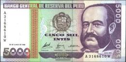 Peru Pick-No.: 137 Usato (III) 1988 5.000 Intis - Peru