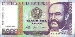 Peru Pick-No.: 137 Usato (III) 1988 5.000 Intis - Perú