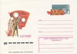 I9520 - USSR / Postal Stationery (1979): 20 Years Union Student Detachment - Berufe