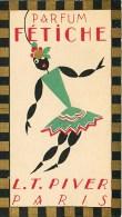 CALENDRIER PARFUMEE ANNEE 1929 PARFUM FETICHE L.T. PIVIER PARIS PARFUMERIE