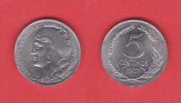 II REPUBLICA  5  CENTIMOS  1.937  HIERRO  KM#752  MBC+/EBC     DL-11.191 - [ 2] 1931-1939 : République