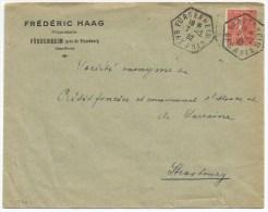 B264 - FURDENHEIM - 1932 - Timbre Type SEMEUSE -  Entête Frederic HAAG Propriétaire - Bas Rhin - - Marcophilie (Lettres)