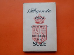 "AGENDA  "" Calendrier publicitaire SUZE "" 1964 dans sa boite d origine"