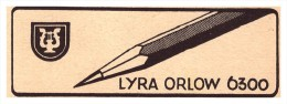Original Werbung - 1941 - Lyra  Orlow-Bleistiftfabrik In Nürnberg , Bleistift !!! - Schreibgerät