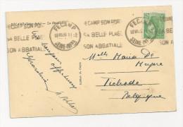 OMEC KRAG 1939 FECAMP Sur Mercure 45c - Postmark Collection (Covers)