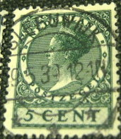 Netherlands 1924 Queen Wilhelmina 5c - Used - Usati