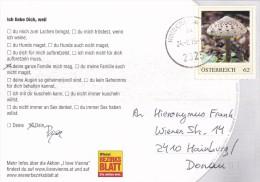 1308d: PM Aus Österreich: Pilze (Parasol) Auf Ansichtskarte Gest. 24.2.15 PA 2325 Himberg Bei Wien - Mushrooms