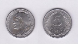 SPAIN / SECOND REPUBLIC Segunda República  (1.931 / 1.939)  5 CÉNTIMOS  1.937  IRON  KM#752  UNC-   DL-11.190 - [2] 1931-1939: Zweite Republik