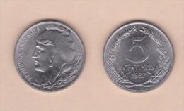 SPAIN / SECOND REPUBLIC Segunda República  (1.931 / 1.939)  5 CÉNTIMOS  1.937  IRON  KM#752  UNC-   DL-11.196 - [ 2] 1931-1939 : Republiek