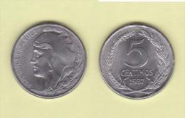 SPAIN / SECOND REPUBLIC Segunda República  (1.931 / 1.939)  5 CÉNTIMOS  1.937  IRON  KM#752  UNC-   DL-11.210 - [ 2] 1931-1939 : Republic