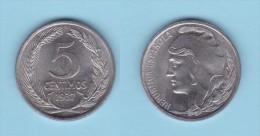 SPAIN / SECOND REPUBLIC Segunda República  (1.931 / 1.939)  5 CÉNTIMOS  1.937  IRON  KM#752  UNC-   DL-11.211 - [ 2] 1931-1939 : République