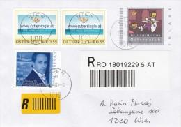 "1308i: Rekobrief Personalisierte ""cybersingle.at"" Gest. 27.4.2004 PA 1010 Wien - Private Stamps"