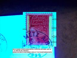 VARIETES FRANCE ANNEE 2000 N° 3083  TVP ROUGE  2.8.2000  PHOSPHORESCENTEL OBLITERE 4 SCANNE - Abarten Und Kuriositäten