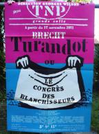 """Affiche De La Pièce """"TURANDOT"""" De BRECHT / TNP 1972 - Affiches & Posters"""