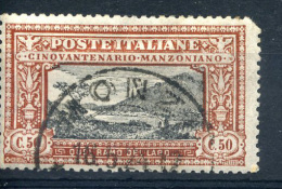 ITALY - SG158 - 50c BLACK And BROWN Cat £75 - 1900-44 Vittorio Emanuele III