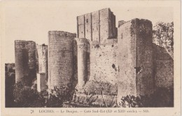 Carte Postale Ancienne,37,indre Et Loire,LOCHES,EN 1900,CHATEAU,DONJON CARRE,PRISON DES TEMPLIERS