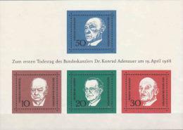 Germany 1968 The Memorial Edition Of Konrad Adenauer,MNH - [6] Democratic Republic