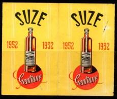 Petit calendrier de poche Suze, 1952.