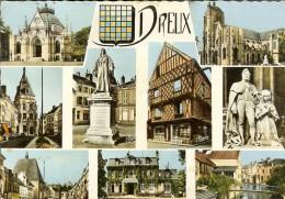 Estel 22803 - Souvenir De Dreux, Multivues 9+ Blason - Flamme Et Timbre Marianne Decaris 0.25 1964 - Dreux