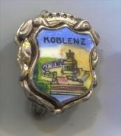 KOBLENZ - Germany, Blason, Coat Of Arms, Vintage Pin Badge, Enamel - Villes