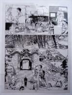EX LIBRIS  CELLULO Celluloide - FRANCQ - VAN HAMME  - LARGO WINCH - DUPUIS - Illustratori D - F