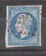 Empire N° 14 Obl Pc 2294   De  NORT, Loire Atlantique    , Indice 5 , TB - 1853-1860 Napoléon III