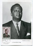 DAHOMEY CARTE MAXIMUM DU N°158 HUBERT MAGA  OBLITERATION PORTO-NOVO 26-12-1960 - Bénin – Dahomey (1960-...)