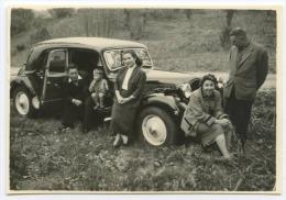 Photo 6x8cm - CITROEN TRACTION - FAMILLE - GARCONNET - Automobili