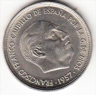 """ESPAÑA 1957 . ESTRELLA """"58""""  50 Pts. FRANCO NUEVA SIN CIRCULAR.PRECIOSA CN4153 - [ 5] 1949-… : Royaume"""